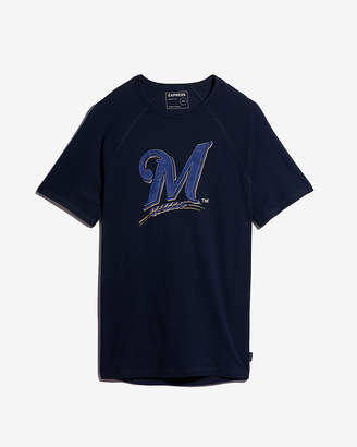 Express Milwaukee Brewers Raised Graphic Tee