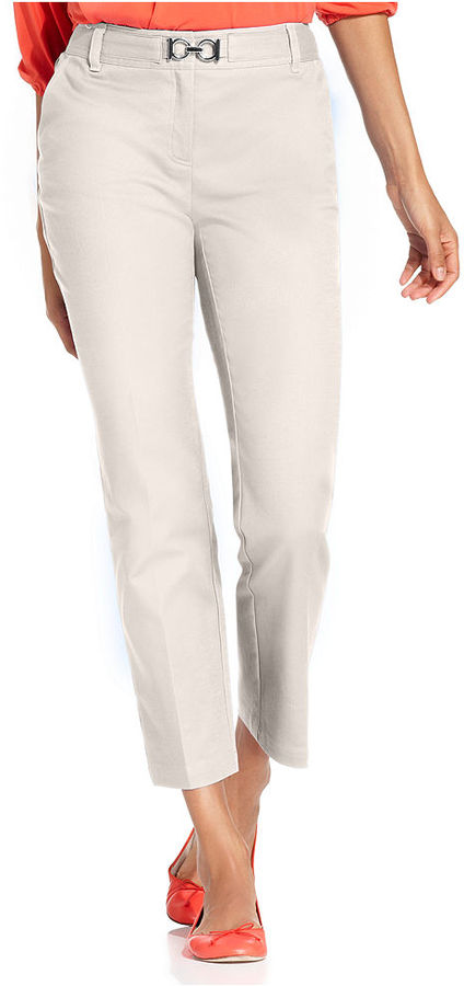 Charter Club Pants, Classic Fit Slim It Up Straight-Leg Cropped