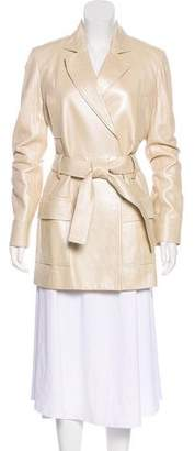 Christian Dior Leather Structured Coat