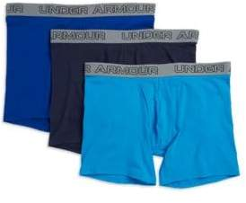 Under Armour Three-Pack Charged Cotton Stretch Boxerjock