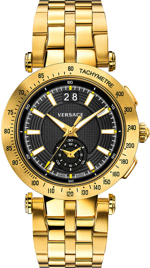 Versace Versace VAH07 0016 V-Race gold-toned stainless steel watch