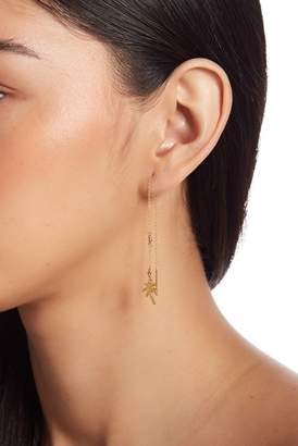 Chan Luu 18K Gold Plated Sterling Silver Palm Tree Threader Drop Earrings