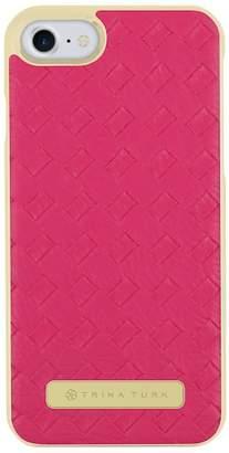 Trina Turk Basket Weave Folio Apple Phone Case - Fuschsia - iPhone 7\u002F8