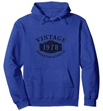 1978 Authentic 40 years old 40th B-day Birthday Gift Hoodies