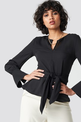 Trendyol Band Detailed Blouse Black