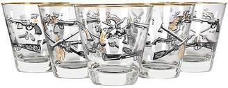 One Kings Lane Vintage 1950s Western Theme Highball Glasses,Set of 5 - 2-b-Modern