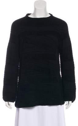 Armani Collezioni Textured Long Sleeve Sweater