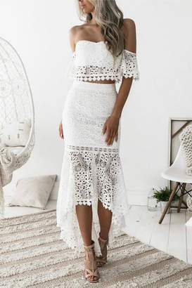 Esley Collection Two-Piece Lace Dress