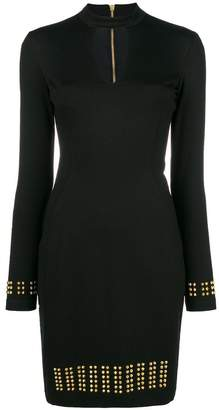 Versace studded long-sleeve dress