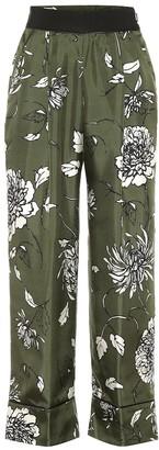 Moncler Floral silk wide-leg pants