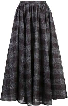 Erdem checkered long skirt
