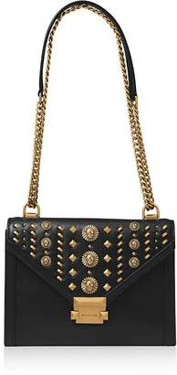 MICHAEL Michael Kors Whitney Large Studded Leather Shoulder Bag