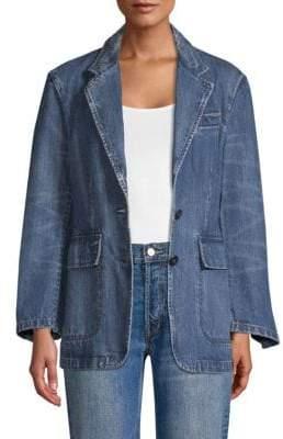 Rebecca Taylor Classic Denim Blazer Jacket
