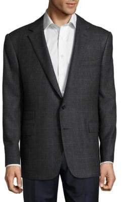 Ralph Lauren Window-Pane Textured Cashmere Jacket