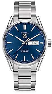 Tag Heuer Women's Carrera 41MM Stainless Steel Automatic Day-Date Bracelet Watch