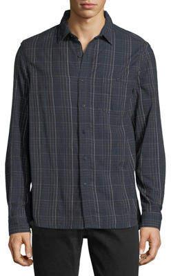 Velvet Plaid Flannel Sport Shirt