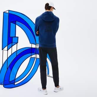 Lacoste Men's SPORT Technical Fleece Hooded Zip Sweatshirt x Novak Djokovic Off Court Premium Edition