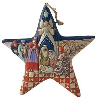 Jim Shore Heartwood Creek Nativity Star Stone Resin Hanging Ornament