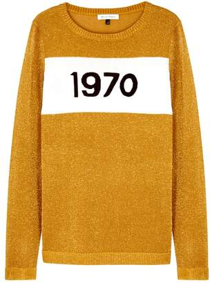 Bella Freud 1970 Gold Fine-knit Jumper