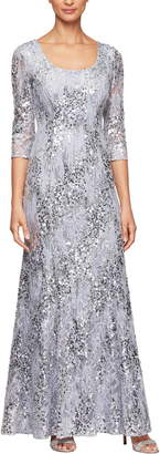 Alex Evenings Sequin Lace Gown