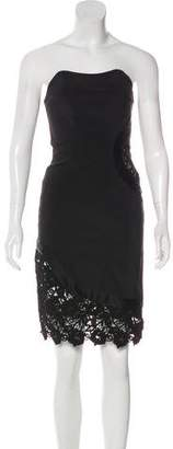 Alexis Lace-Trimmed Strapless Dress w/ Tags