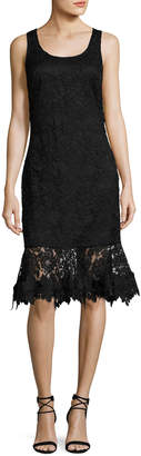 Sachin + Babi Attitude Sleeveless Lace Flounce Cocktail Dress