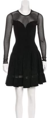 Alaia Textured Flared Dress