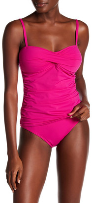 Tommy Bahama Pearl Twist Front Tankini Top $96 thestylecure.com