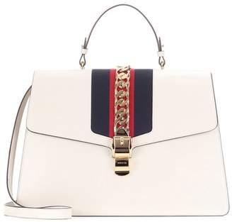 Gucci Sylvie Maxi leather top handle bag