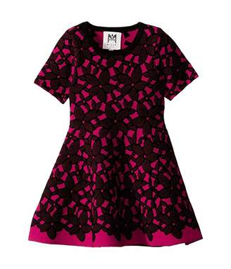 Milly Floral Mesh Jacquard Dress (Toddler/Little Kids)
