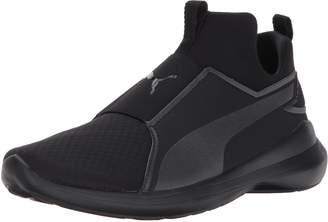 Puma Boys' Rebel Mid Jr Slip On Fashion Sneaker Black 4.5 M US