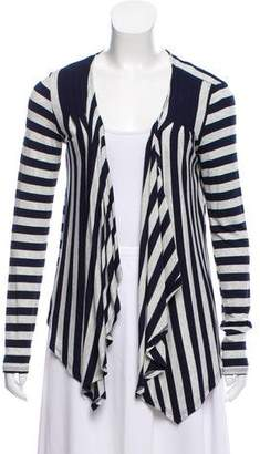 Ella Moss Striped Draped Cardigan