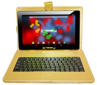 LINSAY 10.1 1280x800 IPS Screen Quad Core Android 7.1 Tablet 16GB with Keyboard Case