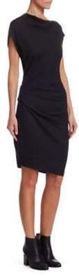 Helmut Lang Asymmetric Wool Dress
