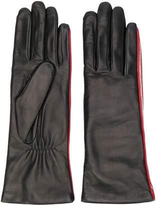Agnelle striped detailed gloves