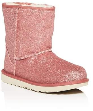 UGG Girls' Classic Short Glitter Boots - Little Kid, Big Kid