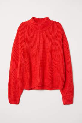 H&M Rib-knit Sweater - Orange