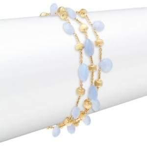 Marco Bicego Chalcedony and 18K Gold Triple-Strand Bracelet