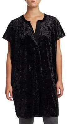 Joan Vass Plus Velvet Relaxed Tunic