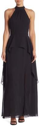 Love Stitch Lumiere Janet Bib Neck Chiffon Maxi Dress