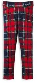 Janie and Jack Little Girl's& Girl's Jacquard Plaid Pants