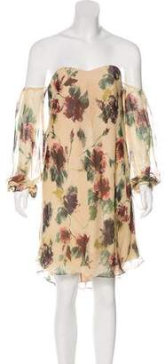 Haute Hippie Silk Floral Print Dress w/ Tags