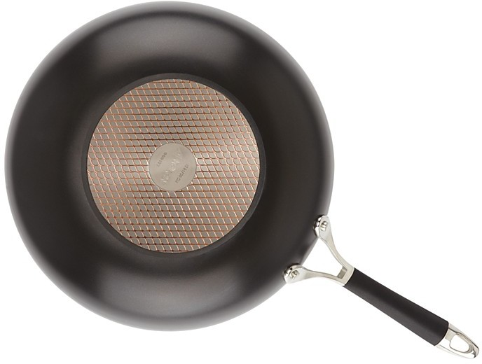 "Anolon Infused Copper 12"" Open Stir Fry Pan, Black"