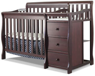 Sorelle Newport 2-in-1 Convertible Mini Crib and Changer