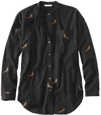 L.L. Bean L.L.Bean Women's Signature Lightweight Flannel Oversized Shirt, Embroidered