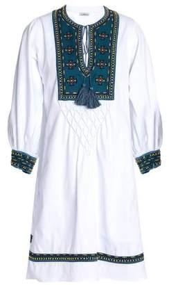 Talitha Embroidered Cotton-Jacquard Mini Dress