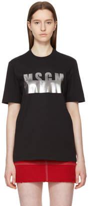 MSGM Black Stamped Logo T-Shirt