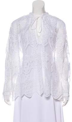 Zadig & Voltaire Lace Ruffled Tunic