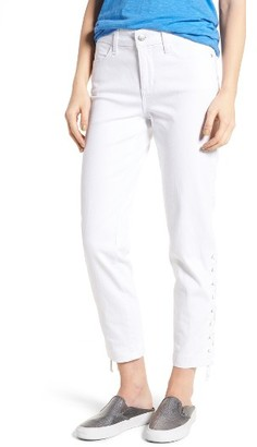 Women's Nydj Lace-Up Stretch Ankle Pants $144 thestylecure.com
