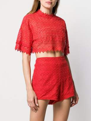 Philosophy di Lorenzo Serafini crochet crop top
